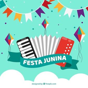 Fundo de junina de festa criativa