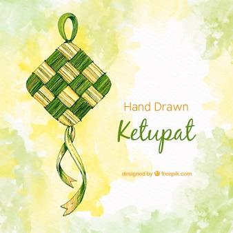 Fundo de ketupat tradicional