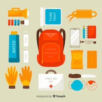 Fundo de kit de emergência de sobrevivência