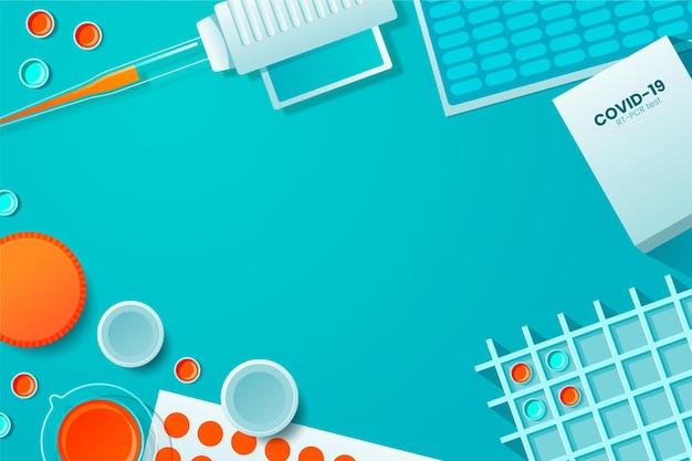 Fundo de kit de teste de coronavírus
