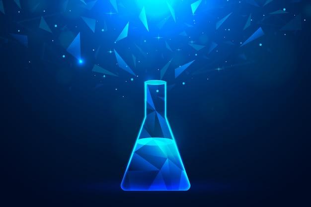Fundo de laboratório de ciência de design futurista