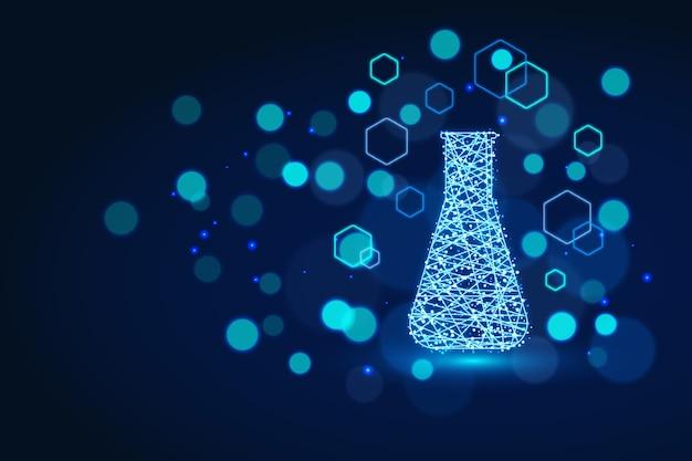 Fundo de laboratório de ciência de estilo futurista