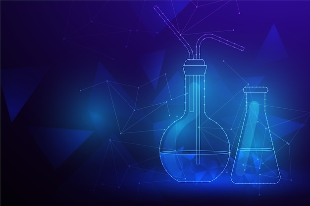 Fundo de laboratório de ciência futurista