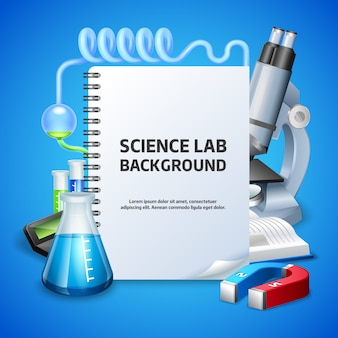 Fundo de laboratório de ciências