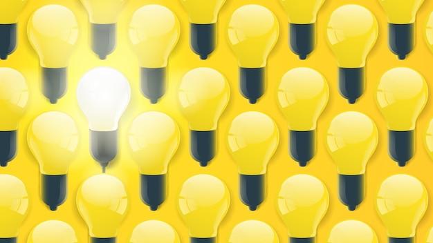 Fundo de lâmpada amarela