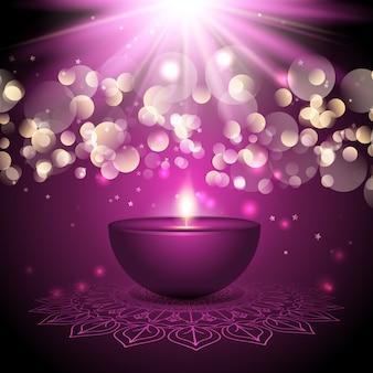Fundo de lâmpada de diwali