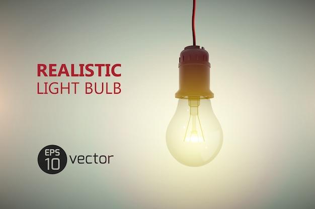 Fundo de lâmpada luminosa