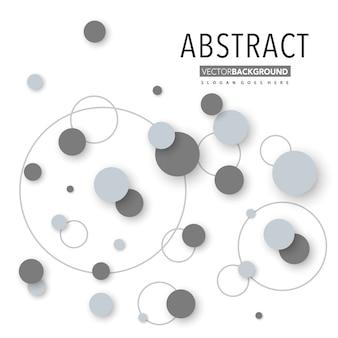 Fundo de layout circular abstrato