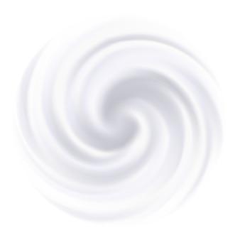 Fundo de leite cremoso redemoinho branco.