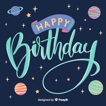 Fundo de letras coloridas feliz aniversário