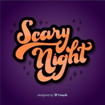 Fundo de letras de noite assustadora