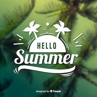 Fundo de letras de verão com imagem