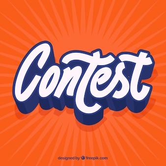 Fundo de letras do concurso
