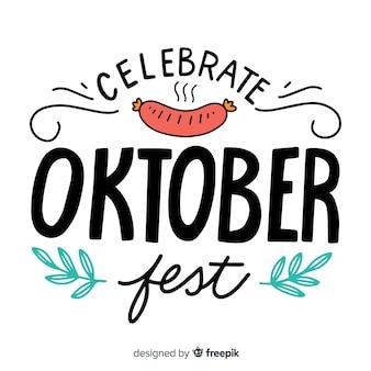 Fundo de letras oktoberfest com elementos