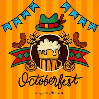 Fundo de letras oktoberfest