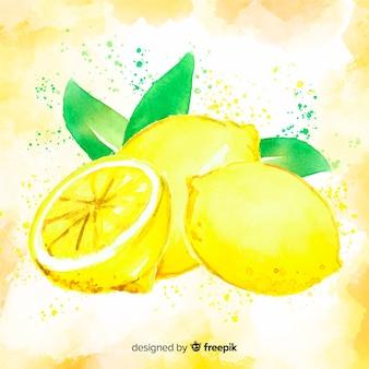 Fundo de limão aquarela