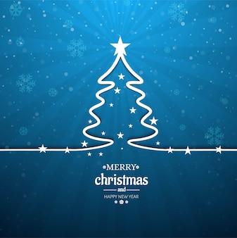 Fundo de linda árvore de natal feliz