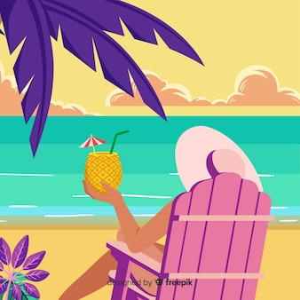 Fundo de linda praia tropical