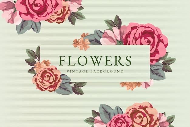 Fundo de lindas flores vintage