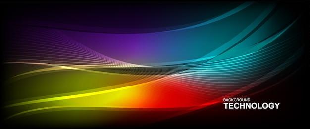 Fundo de linha de onda com forma suave.