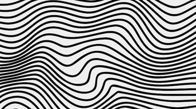 Fundo de linha de onda de arte ótica de listras abstratas