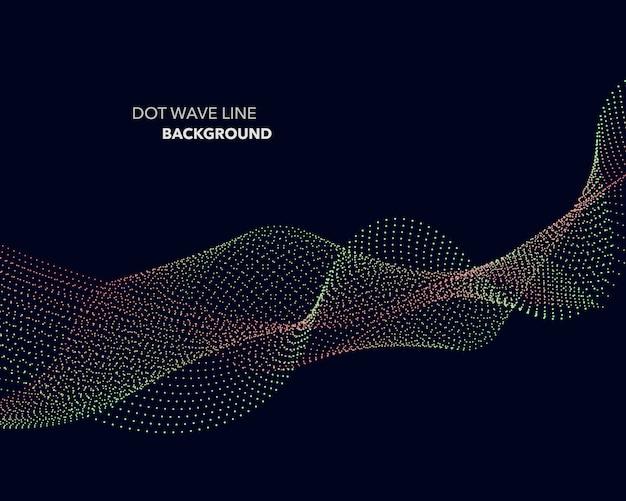 Fundo de linha de onda de ponto abstrato.