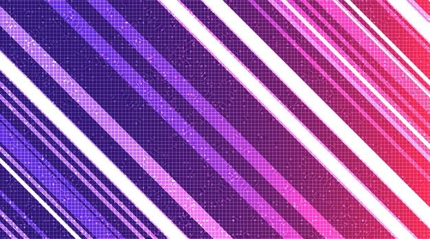 Fundo de linha de tecnologia violeta.