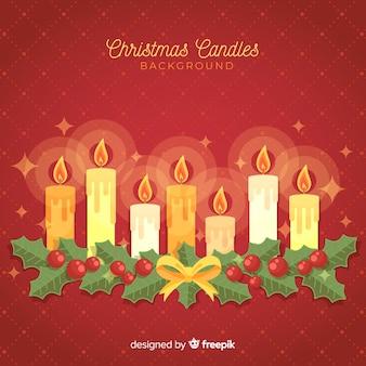 Fundo de linha de velas de natal