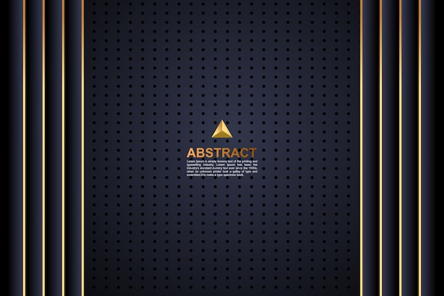 Fundo de linha dourada escura abstrato colorido