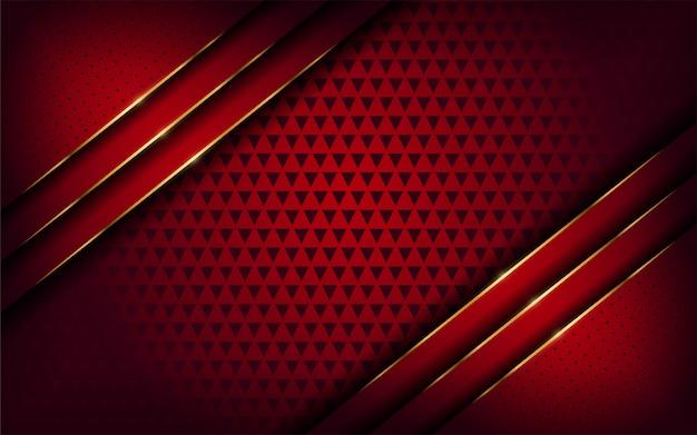 Fundo de linha elegante de vermelho e dourado