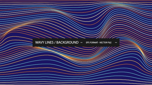 Fundo de linha ondulada colorida