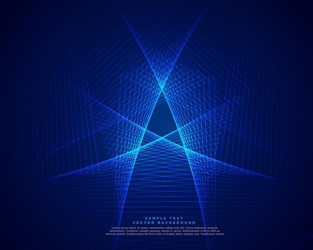 Fundo de linhas abstratas de tecnologia azul