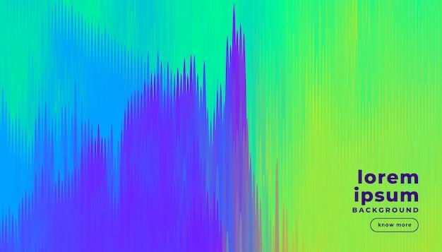 Fundo de linhas abstratas em cores brilhantes