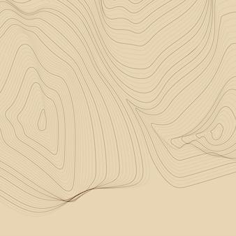 Fundo de linhas abstratas marrom mapa de contorno