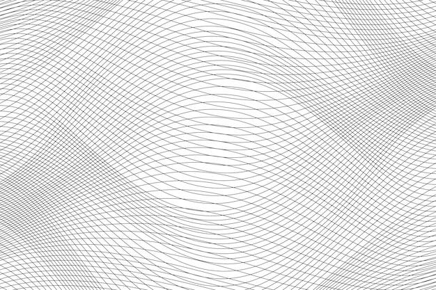 Fundo de linhas abstratas onda dinâmica