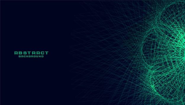 Fundo de linhas brilhantes de tecnologia abstrata verde
