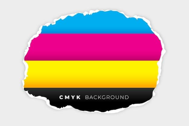 Fundo de linhas cmyk em estilo de papel rasgado