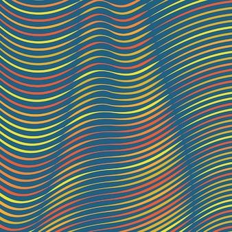 Fundo de linhas coloridas entortadas