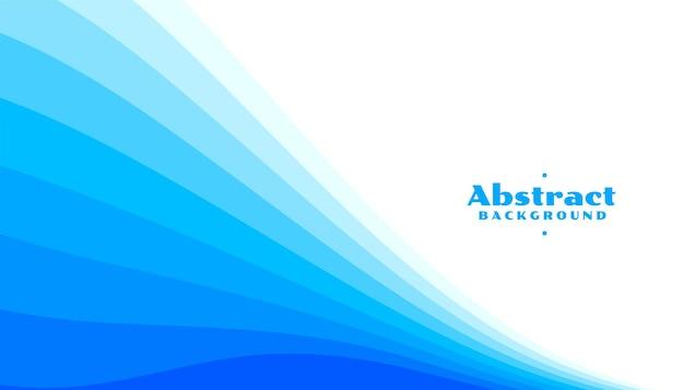 Fundo de linhas curvas azuis abstratas em tons diferentes