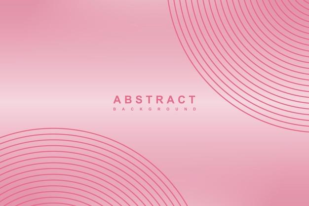 Fundo de linhas de círculo gradiente rosa abstrato
