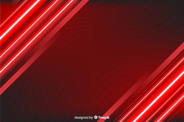 Fundo de linhas de luz vermelha à direita e à esquerda