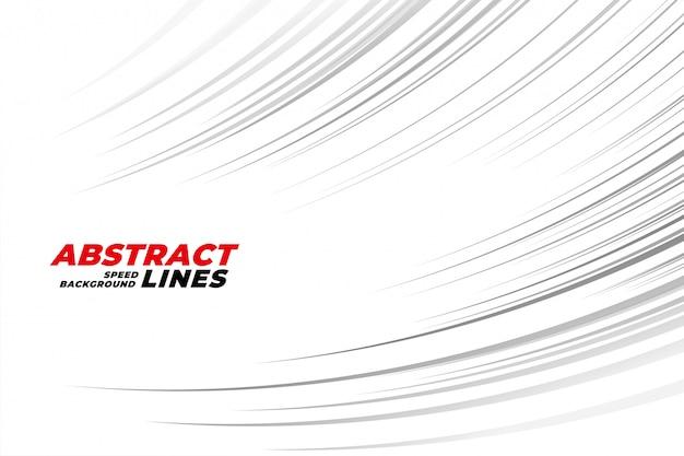 Fundo de linhas de movimento abstrato curva