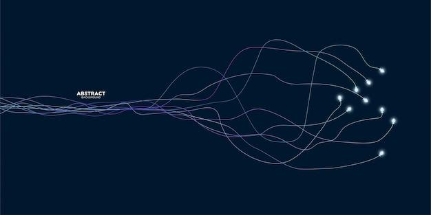 Fundo de linhas de onda abstrata