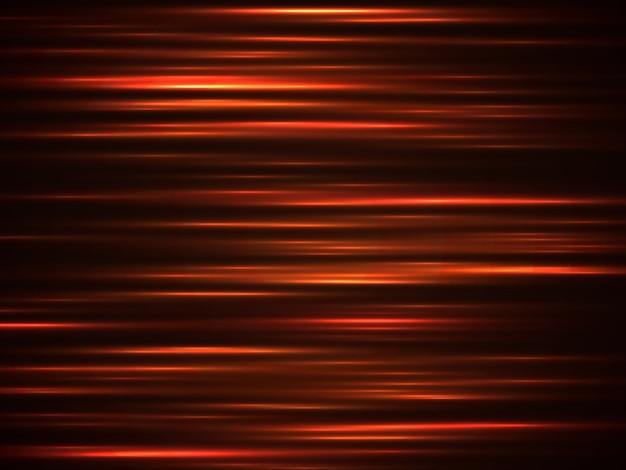 Fundo de linhas de velocidade laranja de fogo