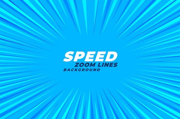 Fundo de linhas de velocidade zoom em quadrinhos abstrata