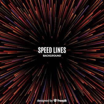 Fundo de linhas de velocidade