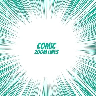 Fundo de linhas de zoom de velocidade em quadrinhos