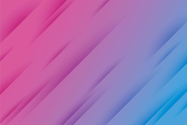 Fundo de linhas dinâmicas de estilo gradiente