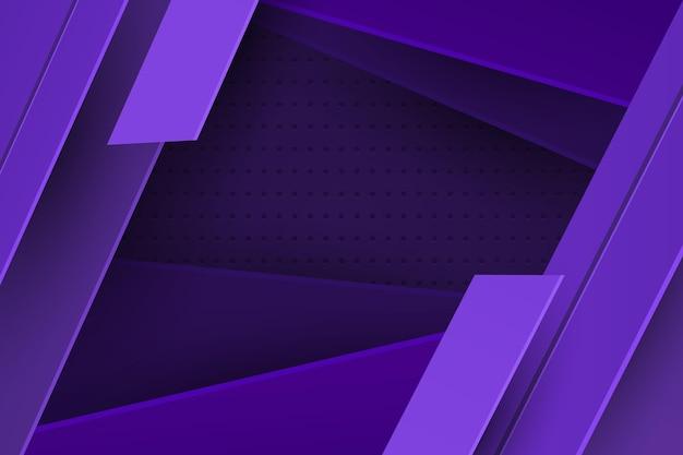 Fundo de linhas dinâmicas roxas em estilo de papel Vetor grátis