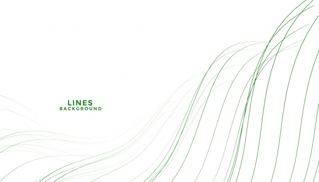 Fundo de linhas fluidas de forma verde abstrata elegante